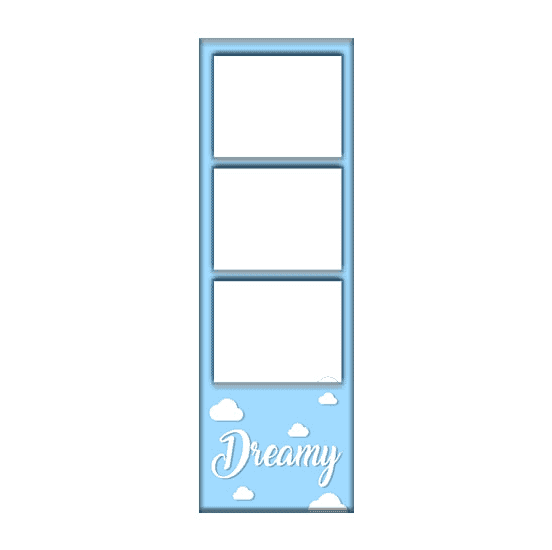 dreamy photo booth template