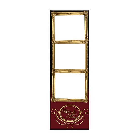 gold framed photo booth template