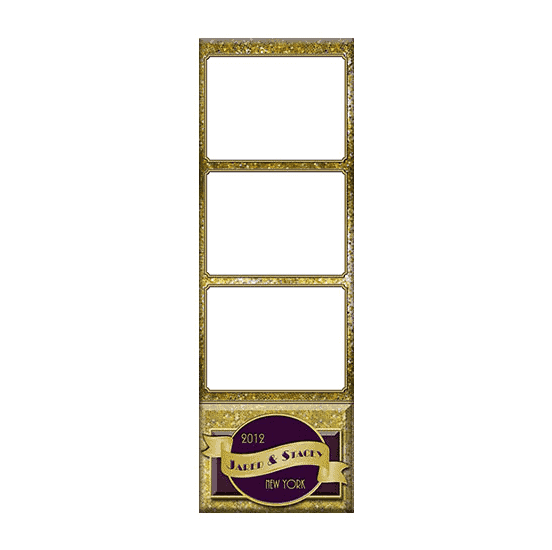 gold photo booth template