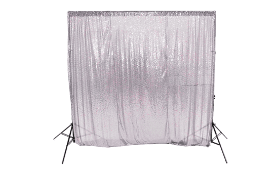 iridescent sequin backdrop