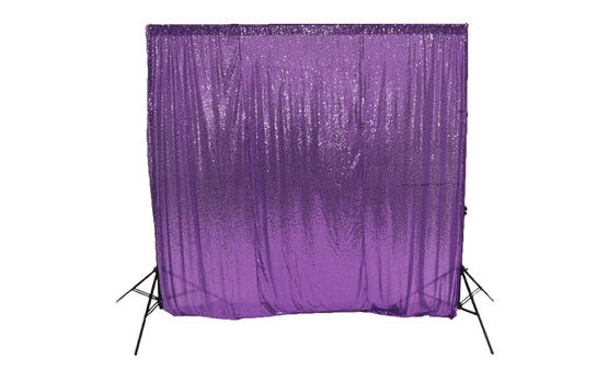 purple sequin backdrop