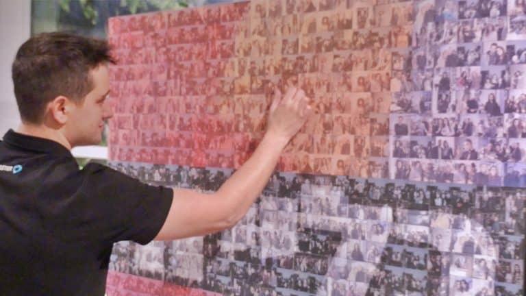 Photo Mosaic Wall Rental Chicago